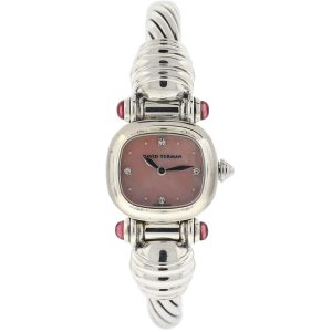 David Yurman Cable Sterling Silver Mother Of Pearl Diamond Dial Ladies Watch