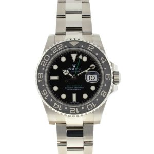 Rolex 116710 GMT II 40mm Ceramic Black Dial Men's Watch