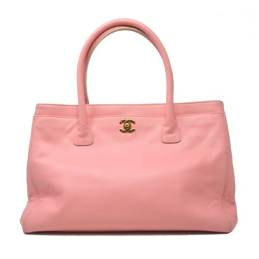752808a45555 Chanel Pink Jumbo Executive Cerf Tote Shoulder Bag - Boca Pawn ...