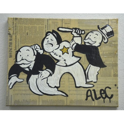 Authentic Alec Monopoly Painting for Sale