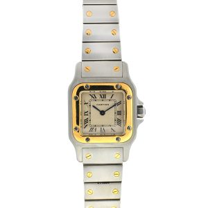 Cartier Santos Two Tone Ladies Quartz Watch