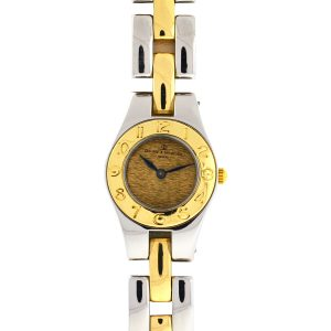 Baume & Mercier Linea Two Tone Stainless Steel Gold Dial Ladies Watch