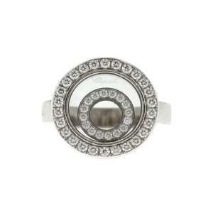 Chopard Happy Spirit Floating Diamond 18k White Gold Ladies Ring
