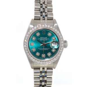 Rolex 79240 Datejust Turquoise Diamond Dial & Bezel Ladies Watch