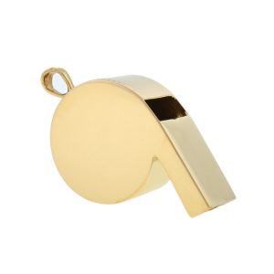 14k Yellow Gold Whistle Pendent