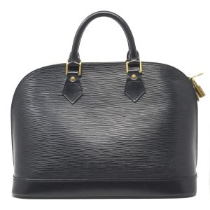 Louis Vuitton Alma PM Black Epi Leather Handbag
