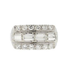 Platinum Vintage Diamond Ladies Ring Approx 2.00 Cts