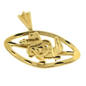 14k Yellow Gold Gators Pendant
