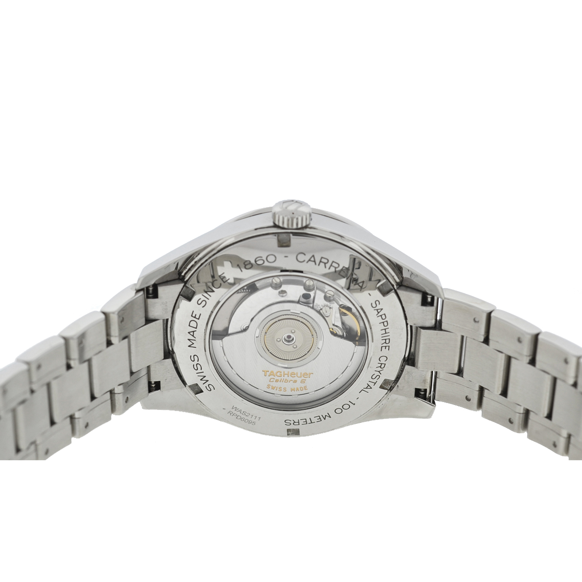 Tag Heuer WAS2111 Carrera Silver Dial Stainless Steel Men's Watch