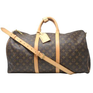 Louis Vuitton Keepall 50 Bandouliere Monogram Canvas Duffle Bag