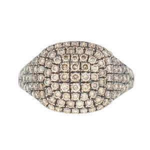 Jennifer Miller 14k Rose Gold Pave Diamond Pinky Ring Approx .53Cts