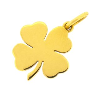 Tiffany & Co 18k Yellow Gold Four leaf Clover Pendant