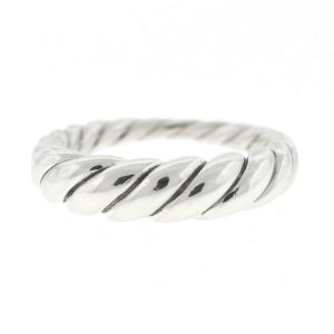 David Yurman Twisted Cable Sterling Silver Ladies Ring