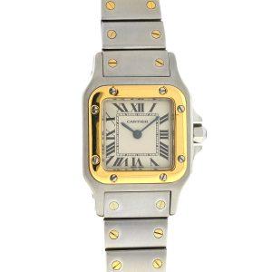 Cartier Santos 1567 Two Tone Quartz Ladies Watch