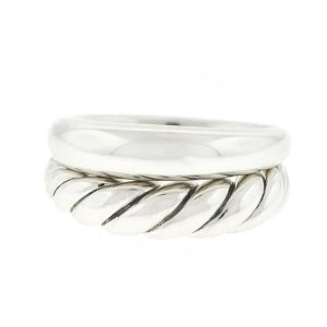 David Yurman Pure Form Stack Sterling Silver Ladies Ring
