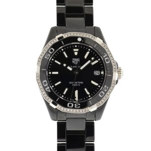 Tag Heuer WAY1395 Aquaracer Black Diamond Ceramic Ladies Watch