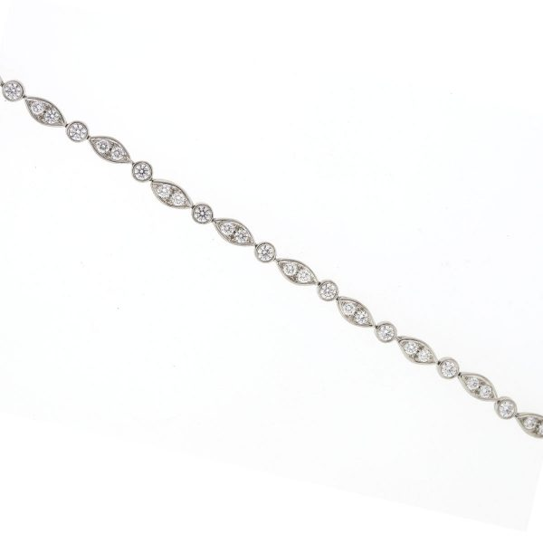 32f1be609 Tiffany & Co. Platinum Tiffany Jazz Diamond Bracelet