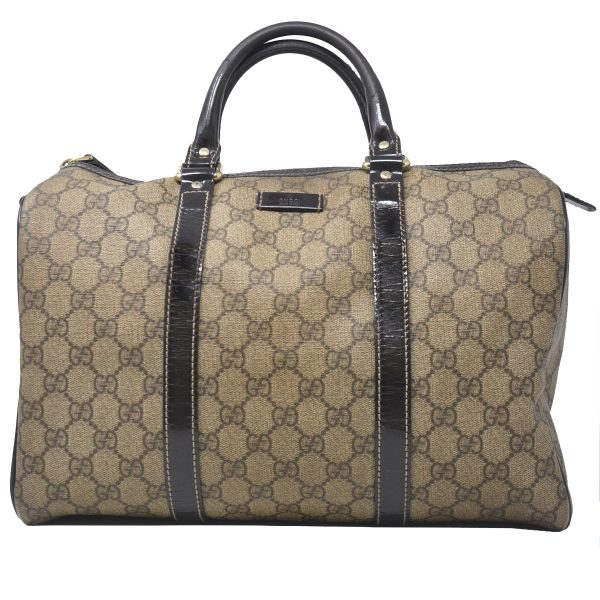 Gucci Joy Boston Medium GG Monogram Patent leather Canvas Handbag