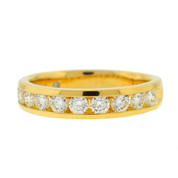 The Leo Diamond 18k Yellow Gold Diamond Wedding Band Approx 1.06 TCW