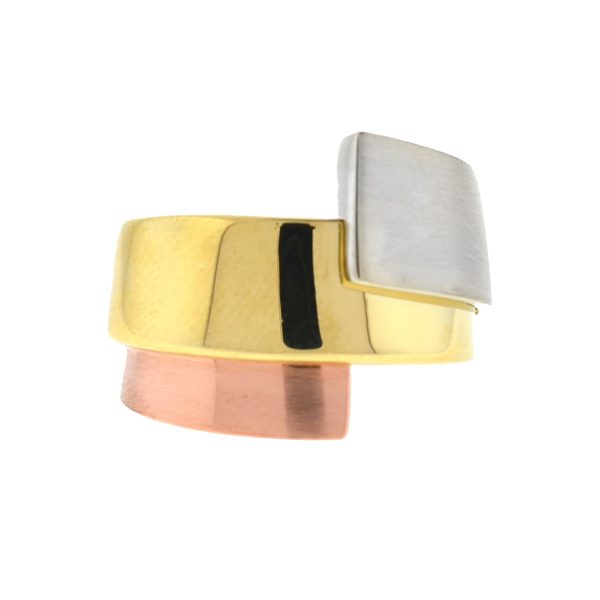 14k Tri Color Ladies Ring