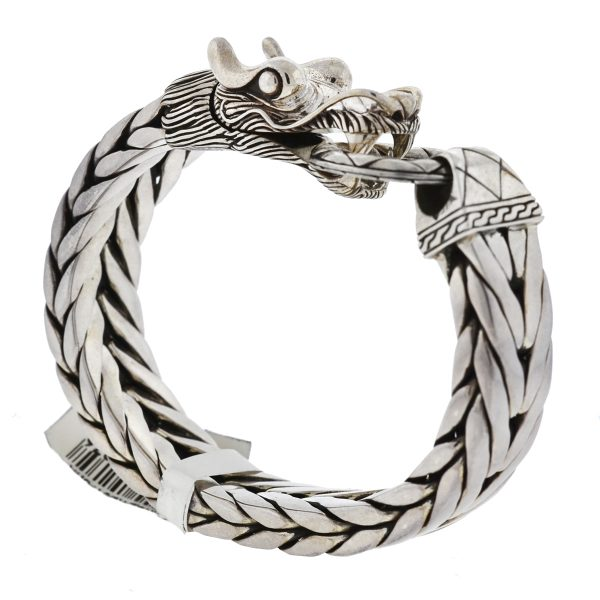 John Hardy Legends Naga Sterling Silver Large Dragon Men's Bracelet