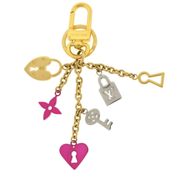 Louis Vuitton Love Lock Heart and Keys Bag Charm Key Chain