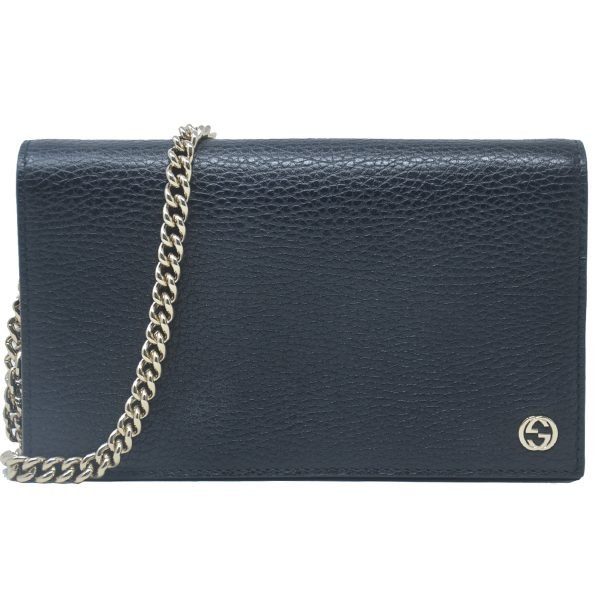 Gucci Betty Wallet on Chain WOC Small Black Leather Crossbody Bag