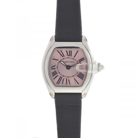 Cartier 2675 Roadster Pink Dial Stainless Steel Quartz Watch