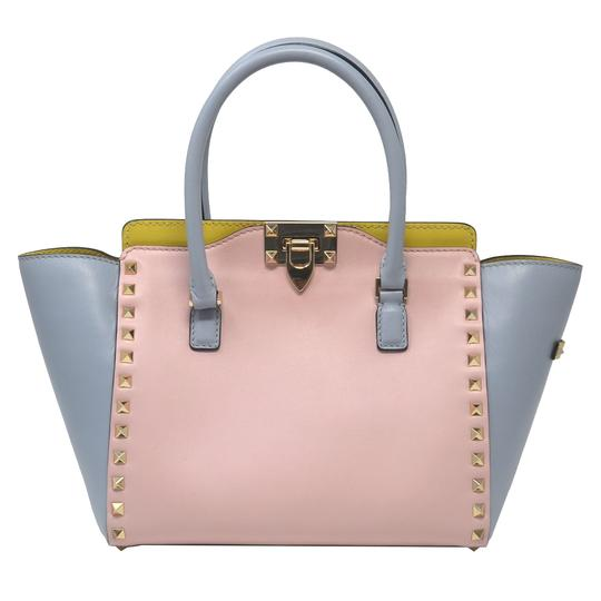 Valentino Rockstud Mini Trapeze Multicolor Leather Shoulder Bag