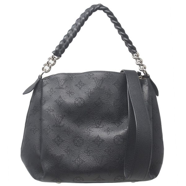 Louis Vuitton Babylone Chain BB Mahina Black Crossbody Bag