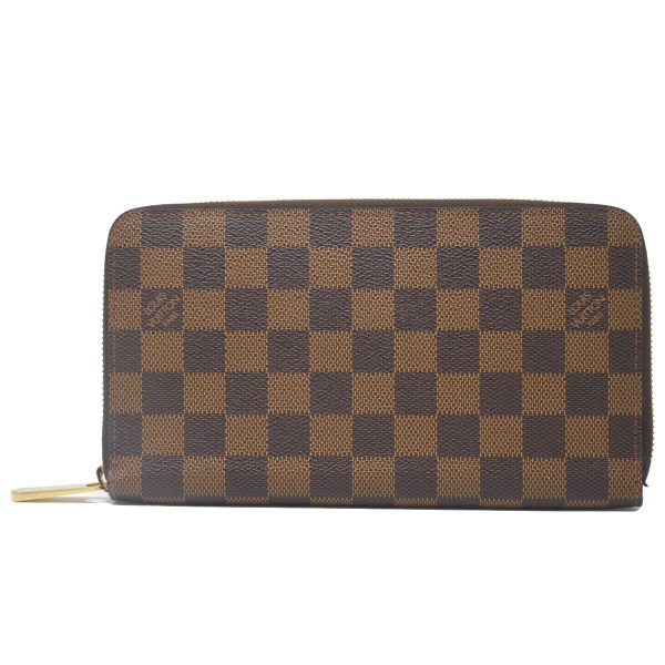 Louis Vuitton Zippy Organizers Damier Ebene Canvas Wallet