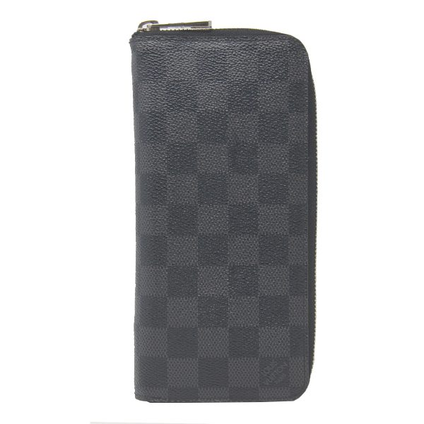 Louis Vuitton Zippy Vertical Damier Graphite Canvas Wallet