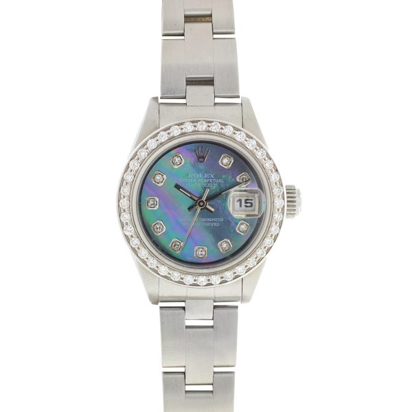 Rolex Datejust Mother of Pearl Diamond Dial and Bezel Stainless Steel Watch