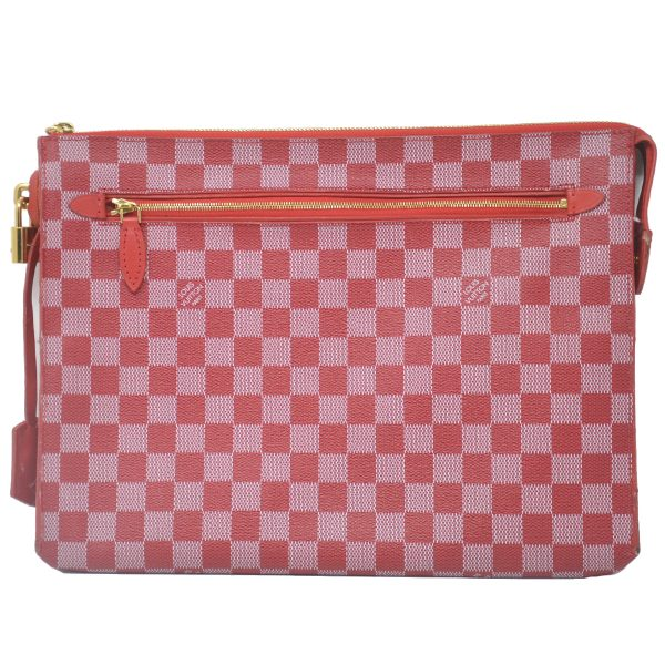 Louis Vuitton Damier Couleurs Carmine Red Kit Clutch