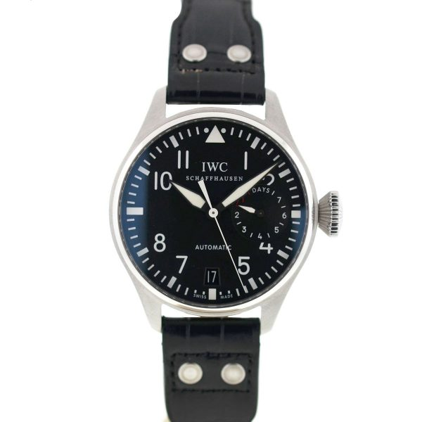 IWC 5004 Big Pilot Black Dial Stainless Steel Automatic Men's Watch