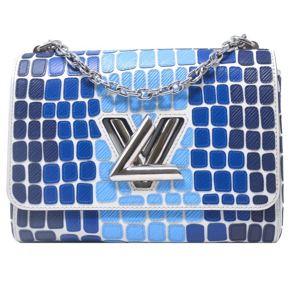 Louis Vuitton Twist MM Blue Epi Leather Savane Shouder Bag