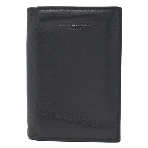 YSL Yves Saint Laurent Bifold Black Leather Men's Credit Card Wallet