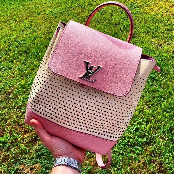 louis vuitton pink backpack