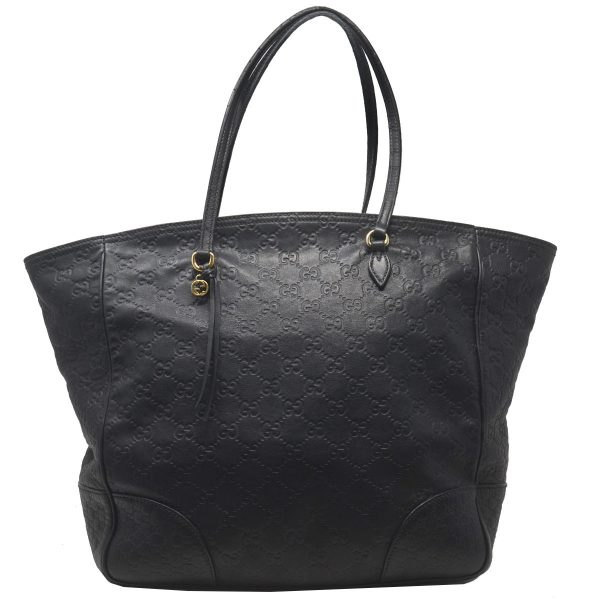 Gucci Guccissima Black GG Bree Medium Tote Bag