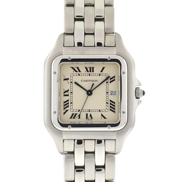 Cartier 1300 Panthere Jumbo Stainless Steel Quartz 29mm Men's Watch