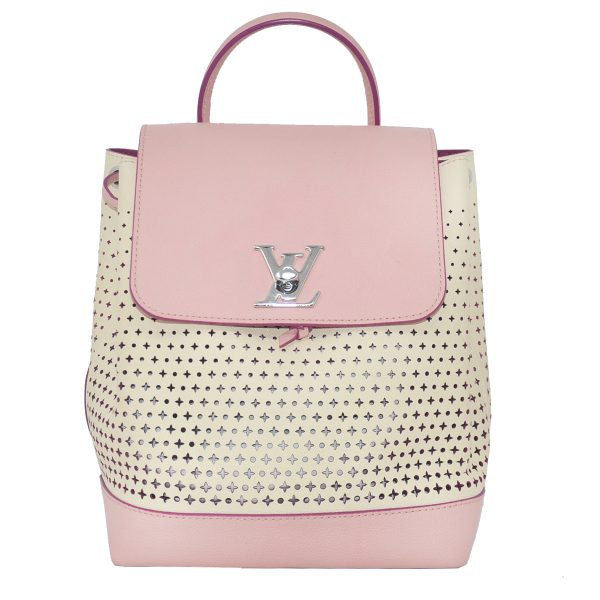 Louis Vuitton Lockme Small Ballerine Pink Perforated Leather Backpack
