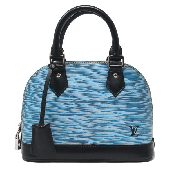 Louis Vuitton Alma BB Epi Leather Denim Handbag NO STRAP