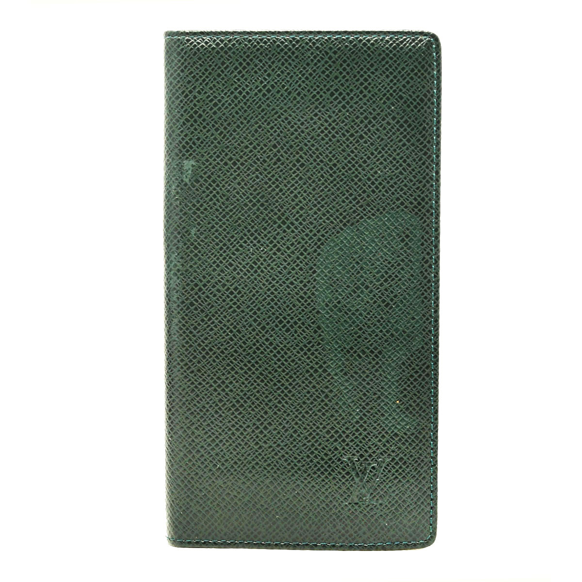 Louis Vuitton Green Taurillon Leather Address Book Wallet