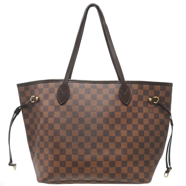 Louis Vuitton Neverfull MM Damier Ebene Canvas Tote Shoulder Bag