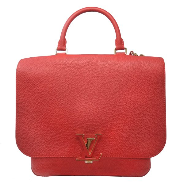 Louis Vuitton Volta Rubis Red Taurillon Leather Shoulder Bag