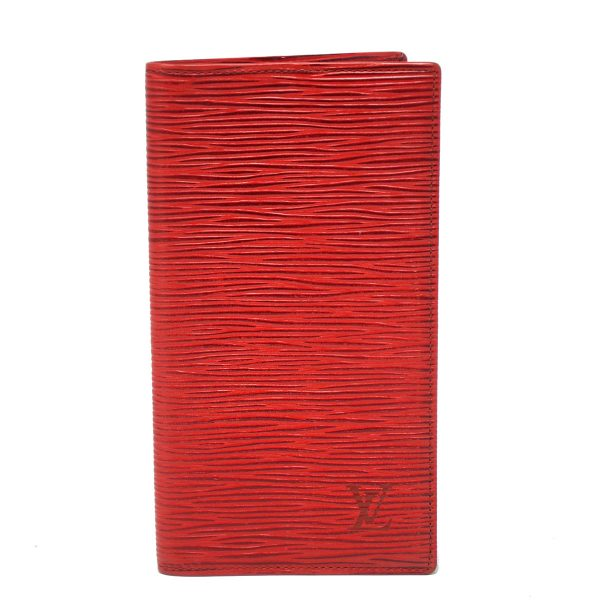 Louis Vuitton Red Epi Leather Checkbook Cover Wallet
