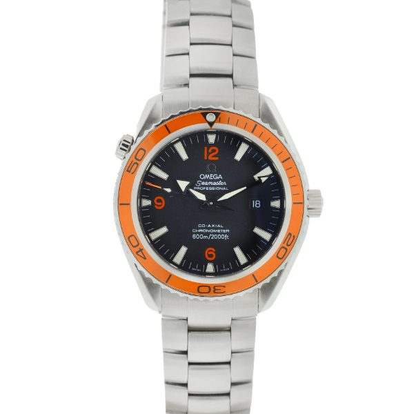 Omega Seamaster Planet Ocean Orange Bezel Stainless Steel Automatic Watch