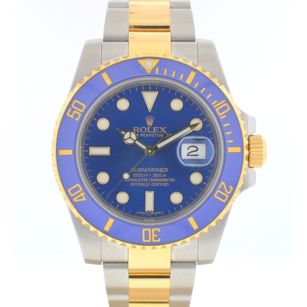 Rolex 116613 Two Tone Submariner Blue Dial Ceramic Bezel Automatic Watch