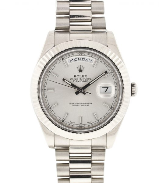 Rolex 218239 President Day Date II 41mm 18k White Gold Automatic Watch