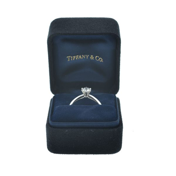 Tiffany & Co. Platinum Round Diamond Solitaire Engagement Ring